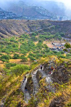 Inside Diamond Head Crater - Waikiki, Hawaii