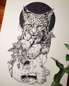 Beautiful Drawings, Cool Drawings, Tattoo Drawings, Memes Marvel, Big Cats Art, Desenho Tattoo, Cat Tattoo, Wildlife Art, Hand Art