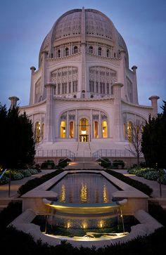 Bahai Temple, Evanston   Illinois (by cmozz)