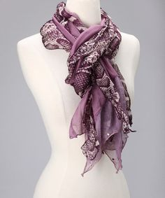 Take a look at this Purple Python Scarf by Island Designs on #zulily today!