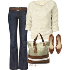 Casual Neutrals...love it all but the witch shoes...LOL would have to find something more caual in a pair of flats or tennis shoes