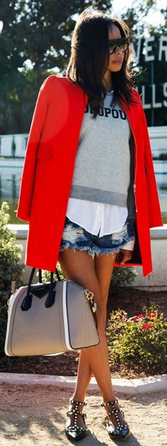 Red Taylor Coat #Fashionistas