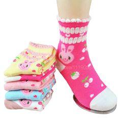 1-12 year old socks for girls high quality cotton socks girl candy color socks kids brand socks 10pec=5pairs/1lot