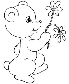 bear 002gif 670820 coloring sheets for kidskids - Kids Drawing Sheet