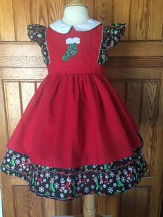 Kari dress Vintage Christmas Dress by CuffsandRuffles on Etsy