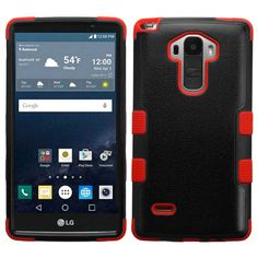 MYBAT TUFF Hybrid LG G Stylo Case - Black/Red