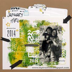 Sizzix Inspiration | Memories 2014 Layout by Anna-Karin Evaldsson
