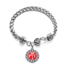 Physical Therapist Assistant Circle Charm Braided Bracelet
