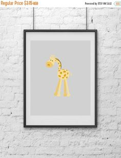 20%off Giraffe Nursery Print Art Print Print Art Digital