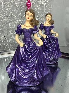 Purple Sweet 16 Bridesmaids Figurine Wedding Party Cake Decoration Party Supplies -- Trust me, this is great! : Baking decorations