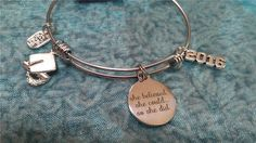 SHE BELIEVED could Expandable Bangle CHARM Bracelet Graduation Stainless Steel in Jewelry & Watches, Fashion Jewelry, Bracelets | eBay