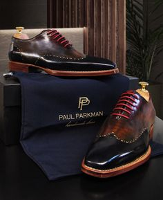 Paul Parkman Goodyear Welted Wingtip Oxfords for Men. Check out www.paulparkman.com to view whole collection.
