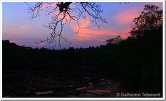 Por-do-sol em Tad Leuk - Laos