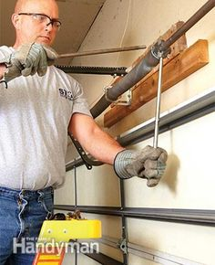 you wind the new springs. Also yank the cord and unplug the garage door opener before you start any garage door spring repair. Play it Super Safe When Doing Garage Door Spring Repair! Garage Door Spring Replacement, Garage Door Spring Repair, Best Garage Doors, Overhead Garage Door, Diy Garage, Garage Ideas, Small Garage, Door Ideas, Garage Door Makeover