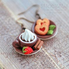 coffee and cinnamon polymer clay