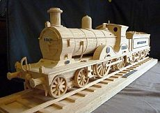 From an incredibly detailed model of the U. Capitol to a mind-blowing replica of the Titanic, check out these 25 Stunning Matchstick Creations. Paper Craft Making, 3d Paper Crafts, Wooden Crafts, Wooden Toy Train, Wooden Car, Matchstick Craft, Woodworking Bandsaw, Wood Craft Patterns, Trains