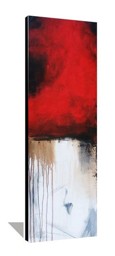 Original Abstract Painting Red and Black by heatherdaypaintings, $225.00