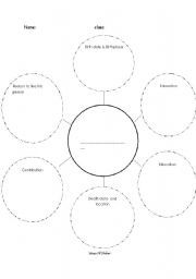 FREEBIE!!! Graphic Organizer for Biography Research