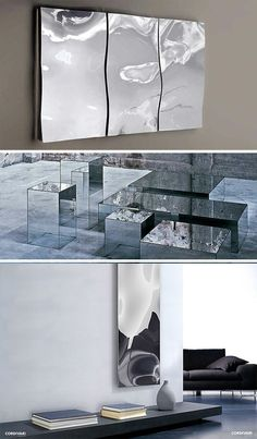 Multifaceted Mirror: Window Glass Fades to Reflective Glaze