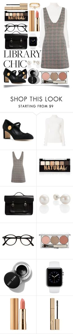 """""""Study Session: Library Chic"""" by ittie-kittie ❤ liked on Polyvore featuring Dolce&Gabbana, See by Chloé, Topshop, NYX, The Cambridge Satchel Company, Chantecaille, Axiology, Stila and Loren Stewart"""