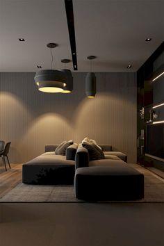 Convertible Furniture, Modern Sofa Designs, Long House, Living Comedor, Dark Interiors, Modular Sofa, Best Sofa, Interior Design Services, Cool Rooms
