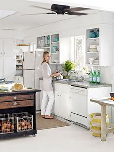 remove upper cabinet doors