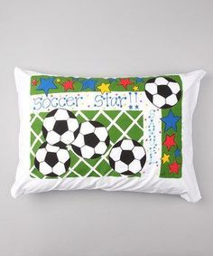 Personalized Soccer Star Pillow Case