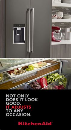 Learn more at KitchenAid.com about the Counter-Depth French Door Refrigerator. Thoughtfully designed, inside and out, with the storage and flexibility to meet your changing needs.