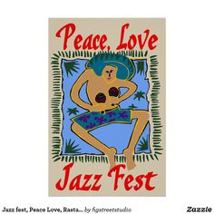 Shop Jazz fest, Peace Love, Rasta Man Postcard created by figstreetstudio. Rasta Man, Jazz Music, Cool Cards, Peace And Love, Greeting Cards, Poster, Fictional Characters, Jazz, Posters