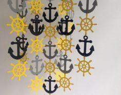 Ancoraggio e Sail Boat Mobile / nautico mobile di MadeByKateDesign