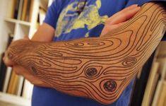Wood grain. What a fun and unique idea.