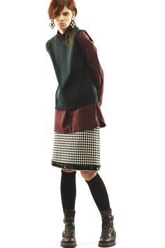 I find it fascinating how the Marni girl is always so simultaneously wrong and right. Look 30 Marni Pre-Fall 2013