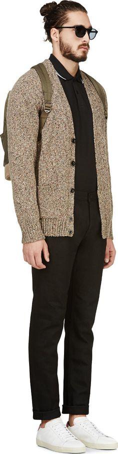 https://www.ssense.com/men/product/paul_smith_red_ear/marled-beige-knit-v-neck-cardigan/111315