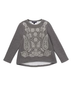This Gray Paisley Hi-Low Top - Toddler & Girls by E-Land Kids is perfect! #zulilyfinds