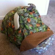 Fleecefun.com 's baby car seat cover pattern!