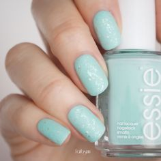 essie • blossom dandy + sparkle on top