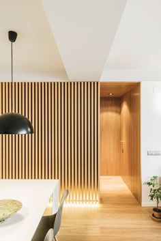 Since 1998 the Web Atlas of Contemporary Architecture Timber Slats, Wood Cladding, Mini Loft, Scandinavian Home, Minimalist Design, Feng Shui, Wall Design, Home Remodeling, Home Furniture
