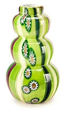 'Melon' Blown Art-Glass Vase with Murrini *View 1* by Shibori Panda avail from 'vetriglass' ♥≻★≺♥Gorgeous - this Vase is Fab either side a 2 in 1♥≻★≺♥