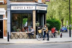 Coffee at Cooper and Wolf in Hackney, London