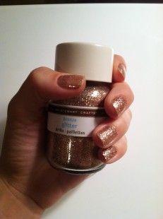 Glittery nails with Martha Stewart glitter