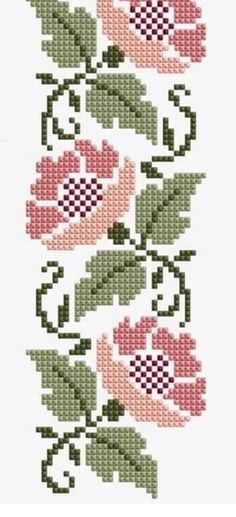 Cross Stitch Boarders, Cross Stitch Tree, Cross Stitch Heart, Simple Cross Stitch, Cross Stitch Flowers, Cross Stitch Designs, Cross Stitching, Cross Stitch Embroidery, Cross Stitch Patterns