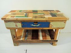 Workstation with Patchwork Top