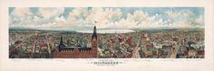 Milwaukee Wisconsin 1898 Bird's Eye View by PaperTimeMachine, $6.99