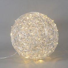 Lámpara DRAHT bola 60cm LED aluminio