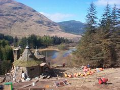 Hagrid's Hut - Glencoe, Scotland - Specifically built for the third HP film, Prisoner of Azkaban, the sets have now been removed.