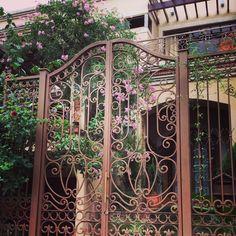 Portón con flores