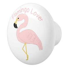 Personalized Flamingo Design Ceramic Knob - home gifts ideas decor special unique custom individual customized individualized