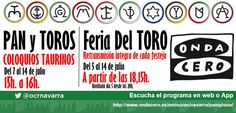 San Fermín · Feria del TORO  en Onda Cero Navarra