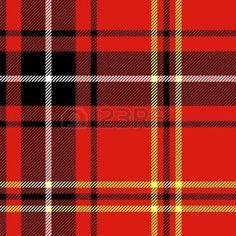 格子縞の: タータン伝統的な市松模様イギリス ファブリック シームレス パターン, 黒と赤
