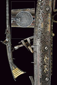 A beautiful silver mounted moukala snaphaunce gun    provenance:	 	North Africa dating:	 	 19th Century